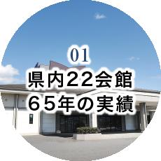 01 県内22会館 60年の実績